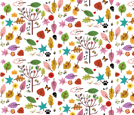 Autumnal Mayhem fabric by mbsmith on Spoonflower - custom fabric