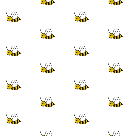 Bee Happy - White