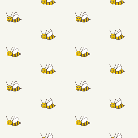 Bee Happy - SoFt fabric by inscribed_here on Spoonflower - custom fabric