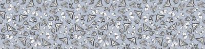 My Garden Toile Butterflies Ditsy Grey ©2011 by Jane Walker