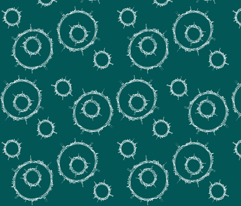 around town teal fabric by wednesdaysgirl on Spoonflower - custom fabric