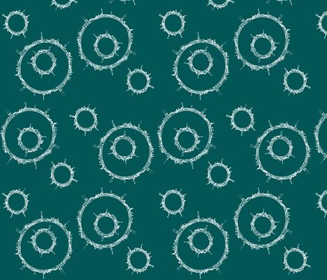 around town teal fabric by wednesdaysgirl on Spoonflower - custom fabric