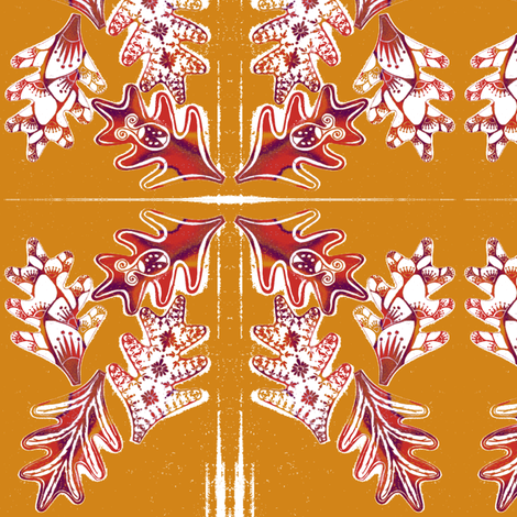 Autumn Wreath fabric by joonmoon on Spoonflower - custom fabric