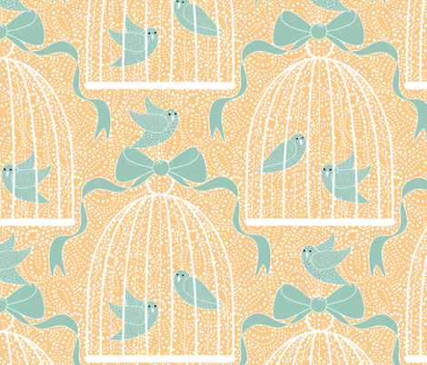 A Bird Song fabric by vo_aka_virginiao on Spoonflower - custom fabric