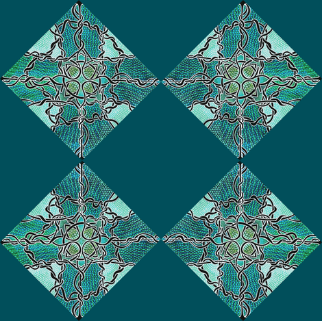 Diamond Vine checkerboard cheater squares fabric by edsel2084 on Spoonflower - custom fabric