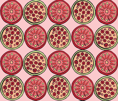 Fruit Play IV fabric by merttu on Spoonflower - custom fabric