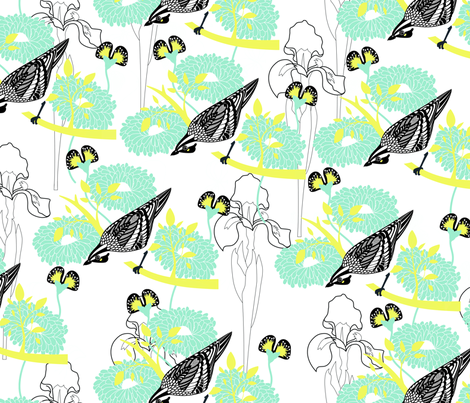 WATCH_THE_BIRDY fabric by mokker on Spoonflower - custom fabric