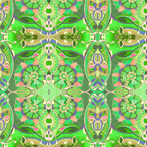 Nouveau Gardens fabric by edsel2084 on Spoonflower - custom fabric