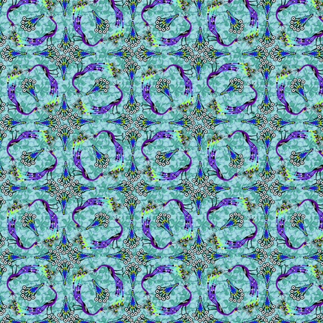 Parade of Peacocks - Micro20 fabric by glimmericks on Spoonflower - custom fabric