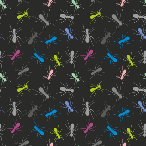 Ants in your Pants fabric by candyjoyce on Spoonflower - custom fabric