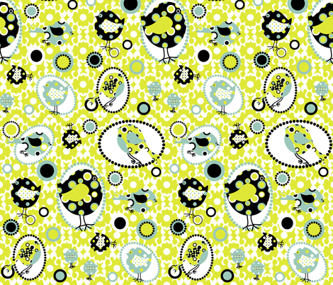 I Spotted Birds Too! fabric by deesignor on Spoonflower - custom fabric