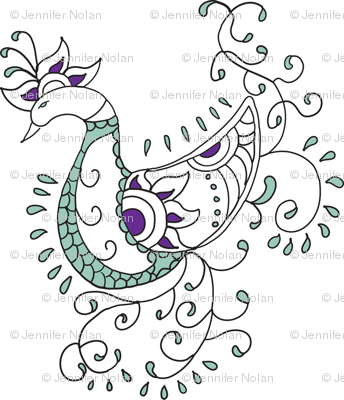 Henna Peacock