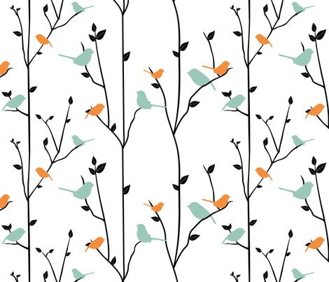 SpringBirds fabric by jbhorsewriter7 on Spoonflower - custom fabric