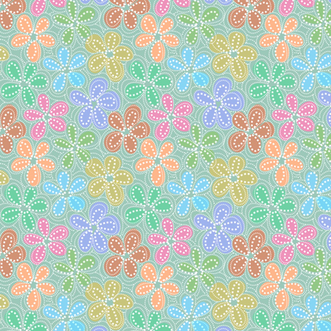 dotty floral  fabric by vo_aka_virginiao on Spoonflower - custom fabric