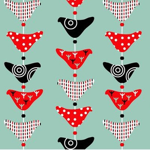 Bird Mobile Spoonflower Colourway