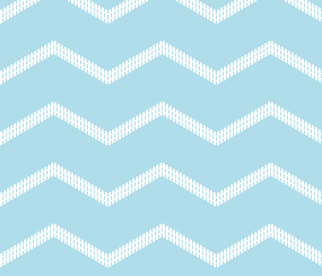 Picket Fence Chevron fabric by mayabella on Spoonflower - custom fabric