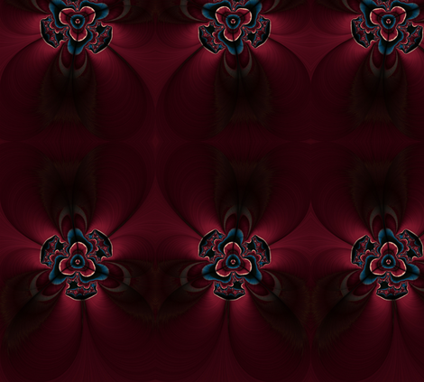 Maroon and blue feather flower fabric by cleigh_designs on Spoonflower - custom fabric