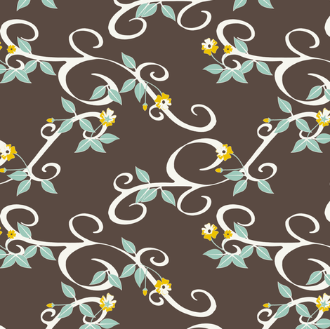 Blossoming - SoFt Brown fabric by inscribed_here on Spoonflower - custom fabric