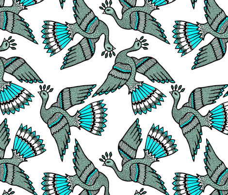 bird fabric by emmanuelle_de_couët on Spoonflower - custom fabric