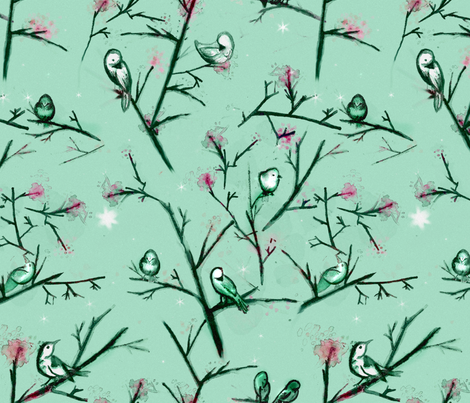 Who Is My Nightingale? fabric by bellenoel on Spoonflower - custom fabric