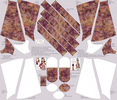 "Colors & Textures: warm colors: for 11 1/2"" Doll (Barbieâ""¢) fabric by danielbingham on Spoonflower - custom fabric"