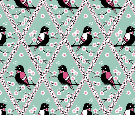Songbirds fabric by siya on Spoonflower - custom fabric