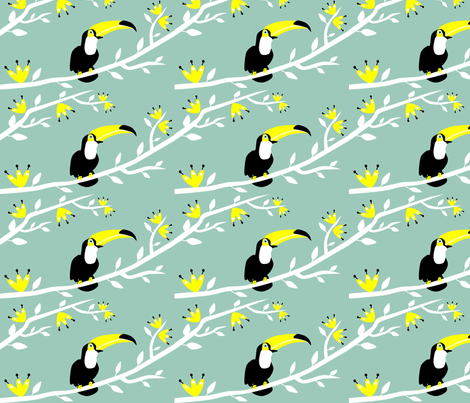 TUCANO fabric by rosapomposa on Spoonflower - custom fabric