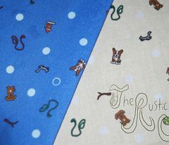 Dog park Ditsy print - blue
