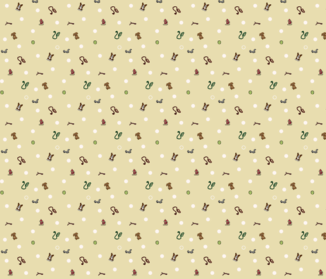 Dog park Ditsy print fabric by rusticcorgi on Spoonflower - custom fabric