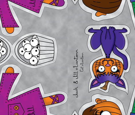 Jack and Jill o'Lantern fabric by laurijon on Spoonflower - custom fabric