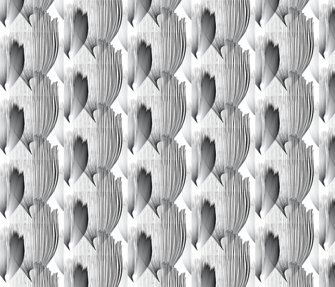 B-W_Feather_Pattern_Tile fabric by p-o-t-o on Spoonflower - custom fabric