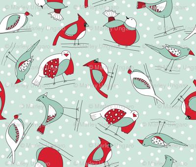 Winter's a-comin birds