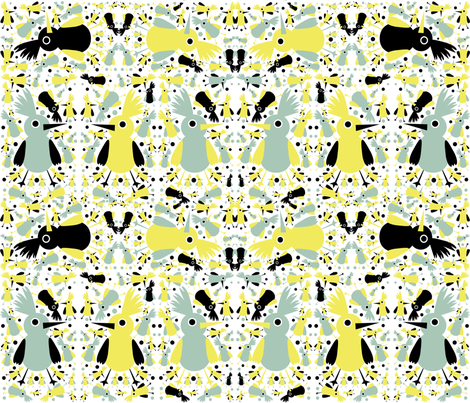 Birds fabric by littleturtle on Spoonflower - custom fabric