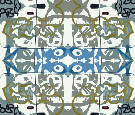Tiki Gods A-go-go fabric by susaninparis on Spoonflower - custom fabric