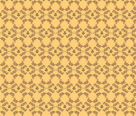 yellow_baroque fabric by kanamithedreamer on Spoonflower - custom fabric