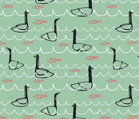 Cisnes/Swans fabric by tilde on Spoonflower - custom fabric