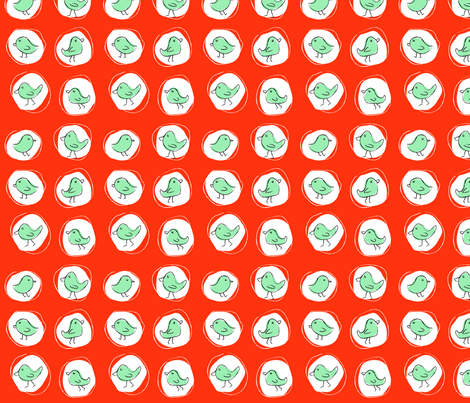 Polkabirds fabric by pieke_wieke on Spoonflower - custom fabric