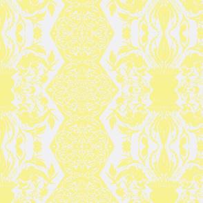 Tahtakale Flowers Upholstery Twill White-Vanilla