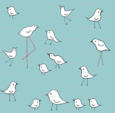 birds blue