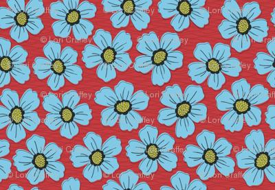 retro blossom blue