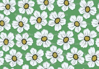 retro blossom green