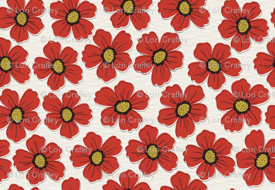 retro blossom red