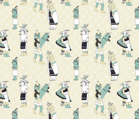 Kachina Birds fabric by krikany on Spoonflower - custom fabric