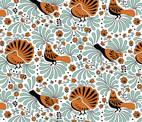 BIRDS fabric by andrea11 on Spoonflower - custom fabric
