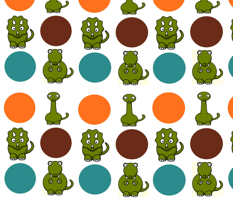 Dino  fabric by icarpediem_ on Spoonflower - custom fabric