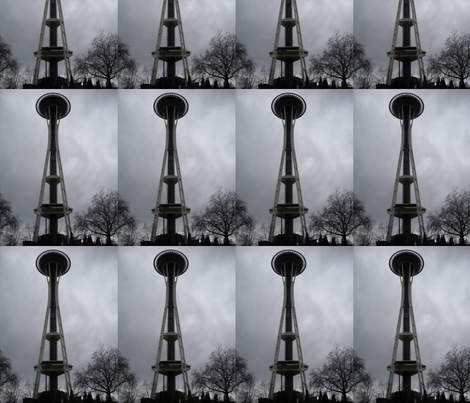 Space Needle 1 fabric by ogopogie on Spoonflower - custom fabric