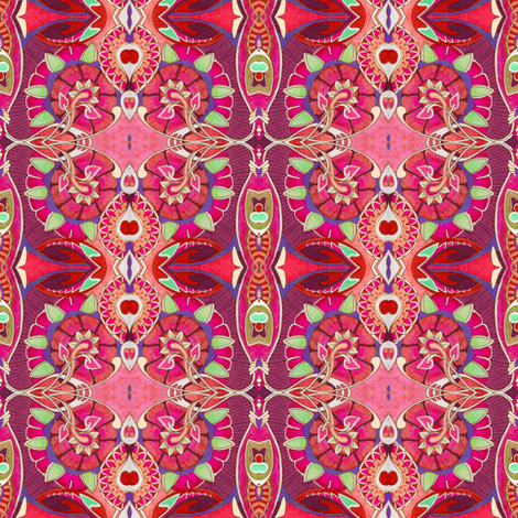 First Glimpse of Spring (red) fabric by edsel2084 on Spoonflower - custom fabric