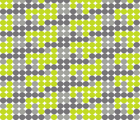 Dot Dot in Greys and Greens fabric by bluenini on Spoonflower - custom fabric