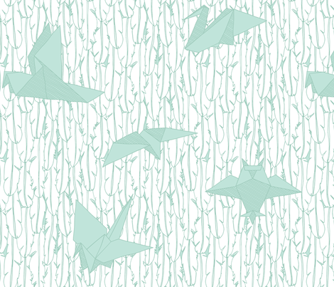 Birds Flew Backwards fabric by leighr on Spoonflower - custom fabric