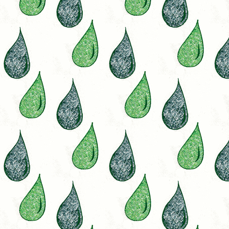 knitdrops green fabric by mimi&me on Spoonflower - custom fabric